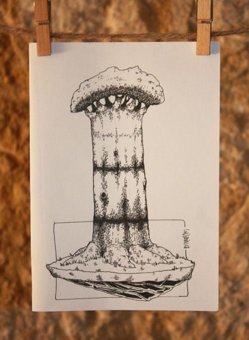 dessin d'arbre, baobab, par le vilain