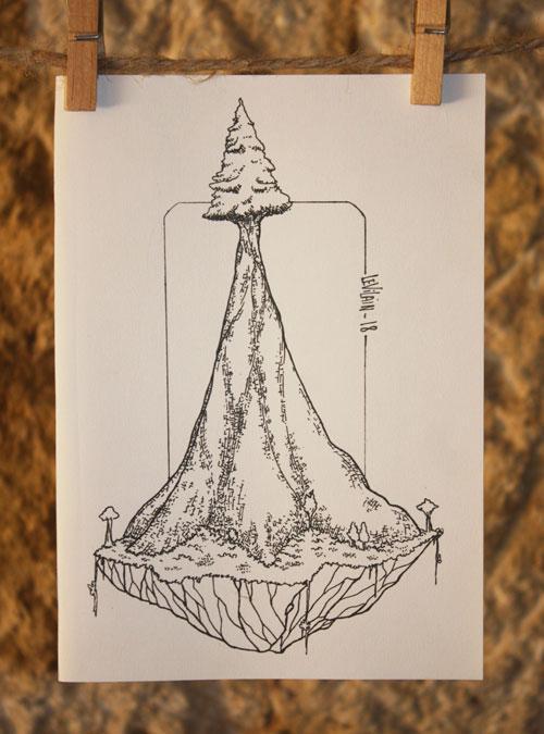 dessin d'arbre géant par le vilain