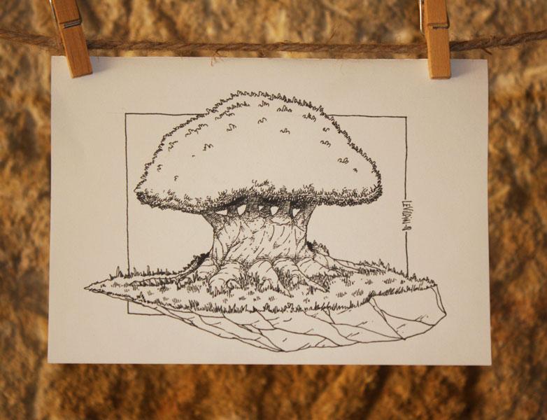 dessin d'arbre par Le Vilain